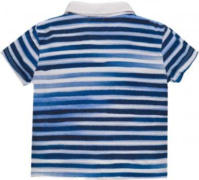 Поло MEK 191MDFN011-218 Бело-синяя