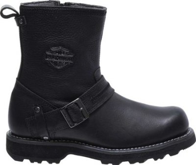 Мужские сапоги Harley-Davidson Richton Motorcycle Boot Black Full Grain Leather (100790)