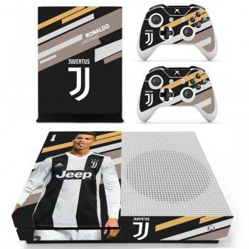 Вінілові наклейки на Xbox One S і Gamepad Juventus Ronaldo Custom Skin Playsole Games (PG401)