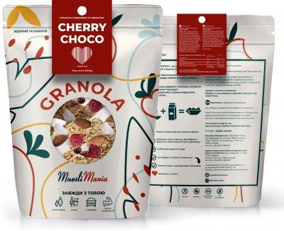 Гранола с вишней и кокосом Muesli Mania Cherry Choco 350 г (4820220140258)
