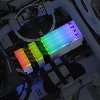 Модуль пам'яті для комп'ютера DDR4 16GB (2x8GB) 4600 MHz Toughram White RGB ThermalTake (R022D408GX2-4600C19A)