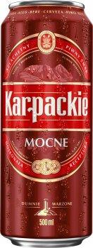 Упаковка пива Karpackie Mocne светлое фильтрованное 6.8% 0.5 л х 24 шт (5900535000696G)