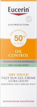 Солнцезащитный гель-крем для лица Eucerin Oil Control с матирующим эффектом SPF 50 50 мл (4005800119507)