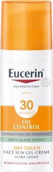 Солнцезащитный гель-крем для лица Eucerin Oil Control для жирной и склонной к акне кожи SPF 30 50 мл (4005800119538)