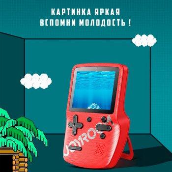 Портативная игровая ретро приставка консоль 169 игр Dendy денди 8bit + 2 джойстика JOYROOM JR-CY282 Red (JR-CY282)