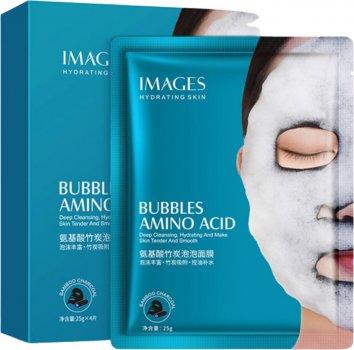 Очищающая тканевая кислородная маска для лица Images Bubbles Mask Amino Acid 25 г (6941349329688)