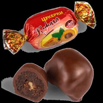 """Конфеты шоколадные Skava """"Курага с грецким орехом"""""""