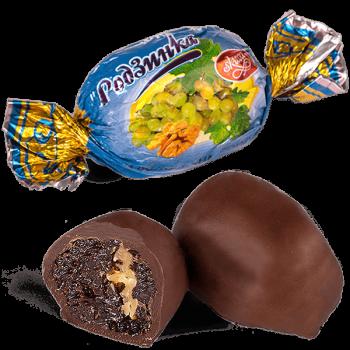 """Конфеты шоколадные Skava """"Изюм с грецким орехом"""""""