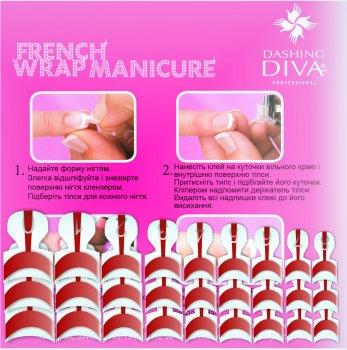 Набір типсів для френча Dashing Diva French Wrap Plus Thick Deep Red Trial Size 28 шт. (0961000000127)