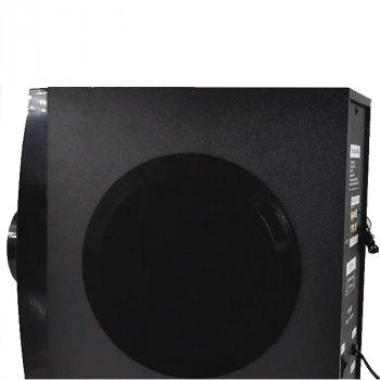 Акустична система ERA EAR Е430, музичний центр з вбудованим Bluetooth-модулем сабвуфер з пультом управління, 90 Вт, чорна , акустика для будинку