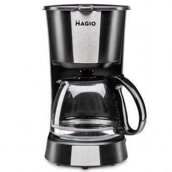 Кофеварка капельная MAGIO MG-349 на 4 чашки с подогревом кофемашина Black (1062)