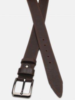 Мужской кожаный ремень Laras Cvgnn6-115 115 см Коричневый (ROZ6400018291)