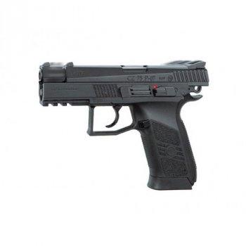 Пистолет пневм. ASG CZ 75 P-07 Nickel Blowback, 4,5 мм , вставка никель