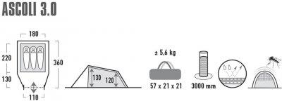 Намет High Peak Ascoli 3.0 Nimbus Grey (928509)