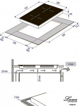Варочная поверхность электрическая Domino Luxor EH 340 DL черный