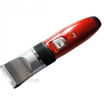 Машинка для стрижки Gemei 6001 Універсальна Машинка для стрижки волосся голови / скронь / шиї / усов з 2 акумуляторами регульованими насадками – легка і компактна стильний дизайн – для домашнього догляду за волоссям з керамічними ножами, - Червона