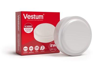Світильник ЖКГ LED 8W коло 4500K 220V Vestum