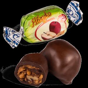 """Конфеты шоколадные Skava """"Яблоко с грецким орехом"""""""