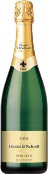 Вино ігристе Heretat el Padruell Cava Семісеко біле напівсухе 0.75 л 11.5% (8411277206521)