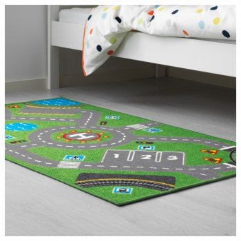 Дитячий килим IKEA (ІКЕА) STORABO зелений (703.568.22)