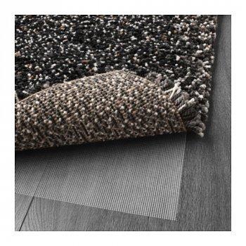 Килим IKEA (ІКЕА) VINDUM 133х180см довгий ворс темно-сірий (003.449.79)