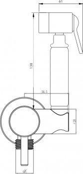 Гигиенический душ со смесителем I.S.A. IDROSANITARIA Peonia 22665