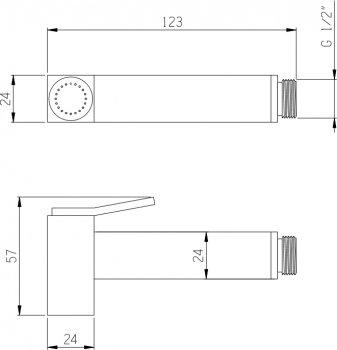 Гигиенический душ I.S.A. IDROSANITARIA Viola 22670