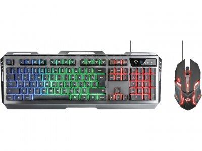 Комплект Trust GXT 845 Tural Gaming, Black, USB, (клавиатрура + миша) підсвічування (23411)
