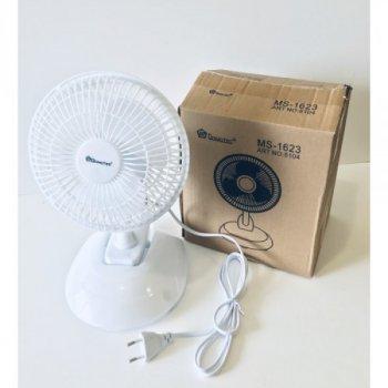 Настільний вентилятор Domotec MS-1623, 2 режими White