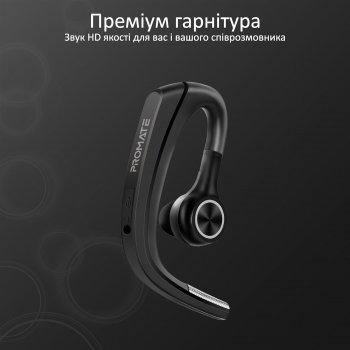 Bluetooth-гарнитура Promate Motion Black (motion.black)