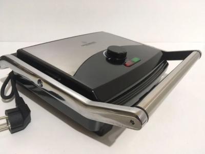 Електрогриль Crownberg CB-1067 притискної з терморегулятором 2000Вт, сріблясто чорний