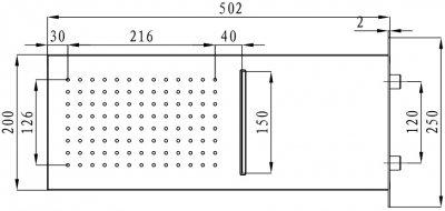 Верхний душ I.S.A. IDROSANITARIA Welly 60350