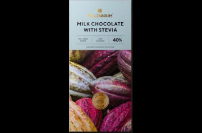 Шоколад молочный Millennium со стевией 40 % 100 г * 5 шт