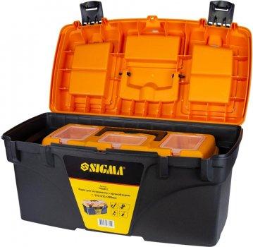 Набор ящиков для инструмента Sigma 2в1 с органайзером 410 х 209 х 195 мм, 535 х 291 х 280 мм (7403771)