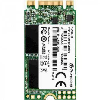 Накопитель SSD M.2 2242 128GB Transcend (TS128GMTS430S)