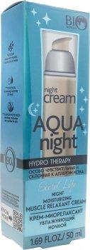 Крем-миорелаксант Bio World Secret Life Hydro Therapy увлажняющий ночной 50 мл (4815412001844)