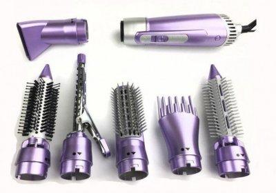 Повітряний мультистайлер для волосся фен 7-в-1 Shinon SH-9822 900W Violet
