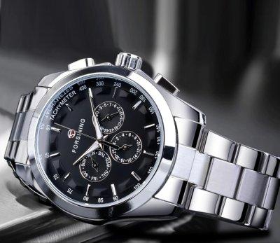 Мужские часы Forsining Walker Steel 1026