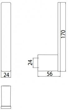 Держатель для туалетной бумаги EMCO Loft 0505 001 01