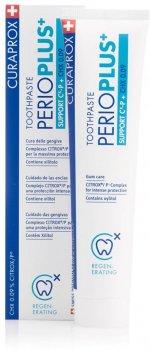 Зубная паста Curaprox PerioPlus+ Support содержит Citrox гиалуроновую кислоту и 0.09% хлоргексидина 75 мл (7612412426618)