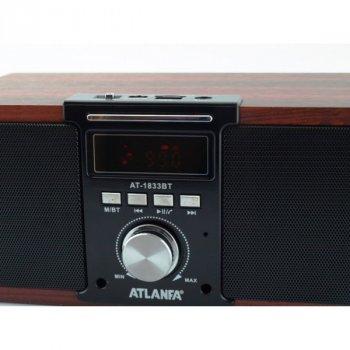 Універсальна потужна Bluetooth колонка з FM-радіо і функцією Power Bank Atlanfa AT-1833BT 12 Вт.