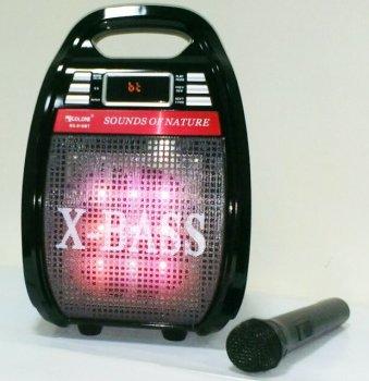 Акустическая система c беспроводным микрофоном GOLON RX-810 Bluetooth Комбик Караоке Светомузыка