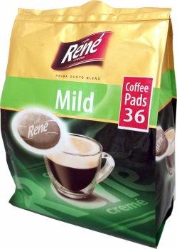 Кофе молотый в чалдах Rene Mild 36 шт для кофемашин Philips Senseo