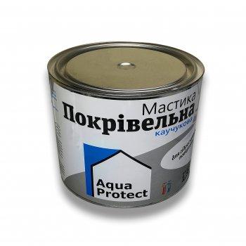 Мастика покрівельна бутилкаучукова Aqua Protect сіра 1,8 кг (64022)
