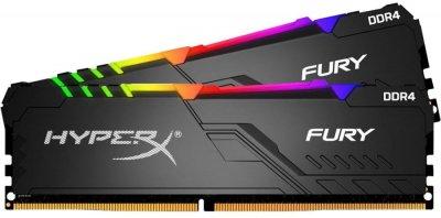 Оперативна пам'ять HyperX DDR4-2666 65536 MB PC4-21300 (Kit of 2x32768) FURY (HX426C16FB3AK2/64)