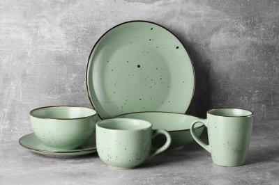 Чашка Ardesto Bagheria Pastel green Зеленый 480 мл (AR2948GGC)