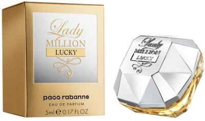 Миниатюра Парфюмированная вода для женщин Paco Rabanne Lady Million Lucky 5 мл (3349668563197)