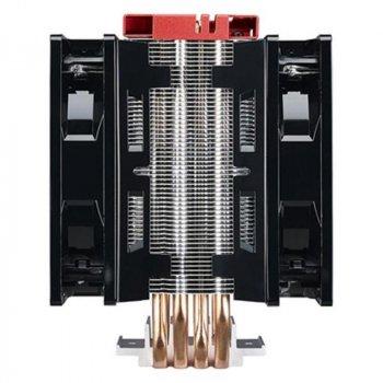Кулер процесорний Cooler Master Hyper 212 LED Turbo (RR-212TR-16PR-R1), Intel: 2066/2011-V3/2011/1150/1151/1155/1156/1366/775, AMD: FM1/FM2/FM2+/AM2+/AM3/AM3+/AM4, 163x108x120 мм, 4-pin