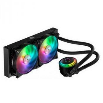 Система водяного охолодження CoolerMaster MasterLiquid ML240R RGB (MLX-D24M-A20PCR1), Intel: 2066/2011-3/2011/1150/1151/1155/1156/1366/775 AMD: FM1/FM2/FM2+/AM2/AM2+/AM3/AM3+/AM4, 277x119.6x27 мм