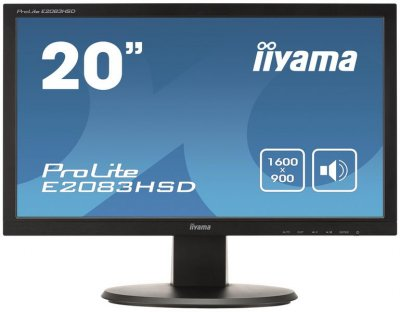 "Iiyama 19.5"" E2083HSD-B1 Black"